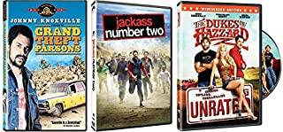 The Johnny Knoxville Collection - Grand Theft Parsons + Jackass Number Two (widescreen) + The Dukes of Jazzard (UNRATED) 3-DVD Pack Bundle