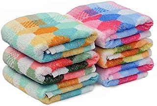 HSR Collection Premium Cotton Hand Towel Set of 6 Piece- 120 GSM, Multicolor