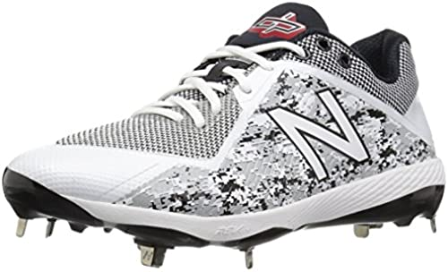 New Balance Men& 039;s L4040v4 Metal Baseball schuhe, Silber Camo, 15 D US