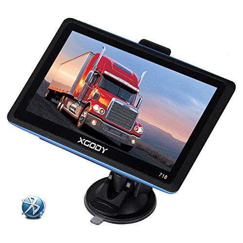 xgody Tragbar Auto Truck GPS Navigation 718mit Bluetooth 17,8cm Kapazitive Touchscreen Sat NAV Kostenloser lebenslanger Map Updates mit Rückfahrkamera Backup Kamera