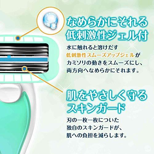 シックSCHICKイントゥイションファブホルダー敏感肌用(替刃2コ付)シック女性カミソリ替刃は本体に装着済み替刃(1コは本体に装着済み)