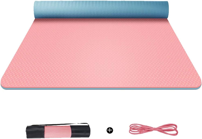 QRFDIAN Yogamatte verbreitert Dicke Herren- und Damen-Fitnessmatte Rutschfeste, geschmacklose Yoga-Matte für Anfnger (Farbe   A, gre   1830  680  6mm)