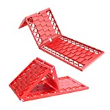 Tire Traction Mat,Car Tire Emergency Traction Mat,Used in Mud,Sand,Snow Emergency Rescue Car Tire Traction Mat (red)