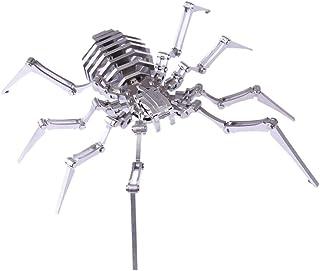 3D金属パズル、DIYスパイダーモデルパズルキット、ステンレス鋼ジグソーDIY組み立てモデル、建設玩具、デスクトップ装飾、子供と大人用