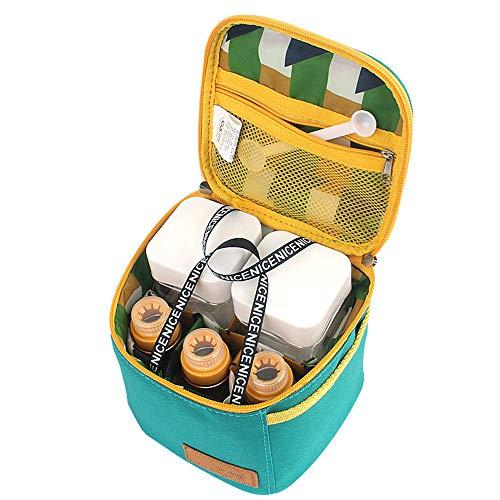NANG YE Juego de ollas de condimento para Picnic al Aire Libre, Cocina portátil para Acampar al Aire Libre, Adecuada para Mochila de Senderismo para Acampar al Aire Libre-Verde