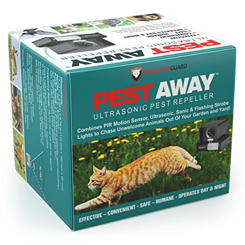 PREDATORGUARD PestAway Outdoor Animal & Cat with Motion Sensor Stops Pest Animals Destroying Your Gardens & Yard
