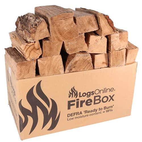 Hardwood Kiln Dried Birch Firewood Logs for fire Pit, 120kg Chunky Logs Perfect for Pizza Ovens, Fire Pits, Chiminea, BBQ Wood Burner Kiln Dried Hardwood Under 20% Moisture. Ready to Burn Fire Logs.