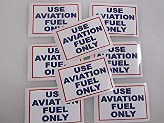 8 USE AVIATION FUEL ONLY Sticker LOT for Airplane Race Boat Car Window Decal Bumper Sticker