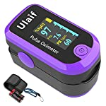 Finger Pulse Oximeter Fingertip, Portable Blood Oxygen Saturation Monitor for Heart Rate and SpO2 Level, Pulse Ox,Oximetro, O2 Monitor Finger for Oxygen,(Purple)
