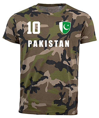 aprom Pakistan Camouflage T-Shirt - All-10 - Trikot Army Look WM World Cup Pakistan (M)