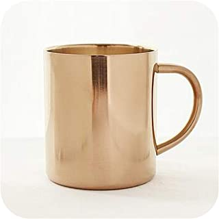 Nordic Style Coppering Double Vacuum Anti hot Coffee Cup Stainless Steel Cup Coffee Cup Golden Mug 0136,B