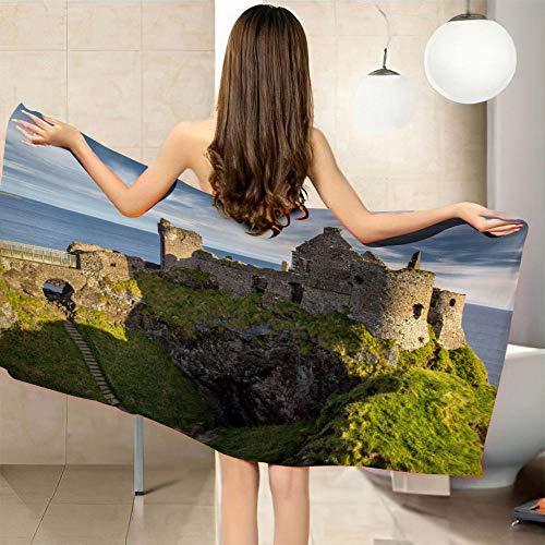 LHUTY Toalla de Playa Paisaje de la Isla 70 x 150 cm Microfibra Tapices Decorativos Toalla Estera de Yoga Esterilla de Picnic Alfombras Manteles Mandala
