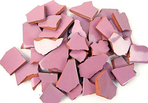 900g Bruchmosaik, Mosaikfliesen aus handgefertigten Fliesen - rosa
