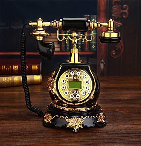 LHQ-HQ Teléfono Antiguo Teléfono de la casa de teléfono Retro Home Dial Composición Teléfono - A 20 x 25 x 30 cm (8 x 10 x 12 Pulgadas)