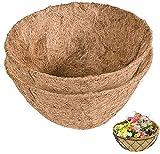 Forro para cestas Colgantes de Fibra de Coco, 4 Piezas, para cestas Colgantes en...