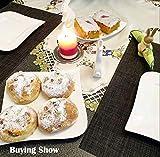 KOKAKO Platzsets(6er Set),Rutschfest Abwaschbar Tischsets Tischmatte PVC Abgrifffeste Hitzebeständig Platzdeckchen,Schmutzabweisend und Waschbare,Platz-Matten für Küche Speisetisch (Dunkel Grau) - 2
