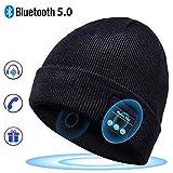 Bonnet Bluetooth Cadeaux Hommes Original - Unisexe Music Bonnet Bluetooth Chapeau avec écouteurs Stéréo Sans Fil, Doux...
