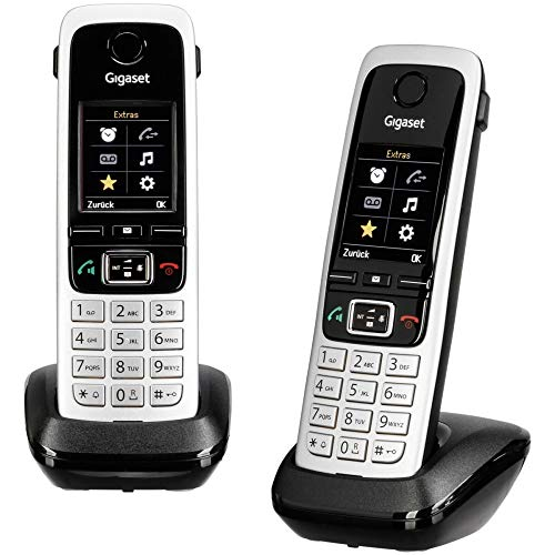 Gigaset C430 HX Duo, ANALOGES TELEFON Schwarz, ZWEI MOBILTEILE