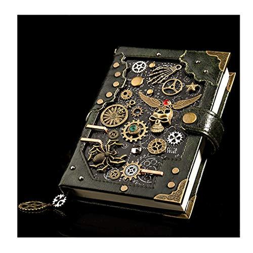 Cuadernos Tapa dura portátil caja de regalo, revistas en blanco Comentario Diario de Bloc de notas cuaderno de bocetos de viaje en el, de papel sin forro, retro colgante, estilo steampunk. blocs de no