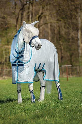 Horseware Amigo Bug Buster Fliegendecke unbehandelt Silver/Electric Blue Gr. wählbar (145)