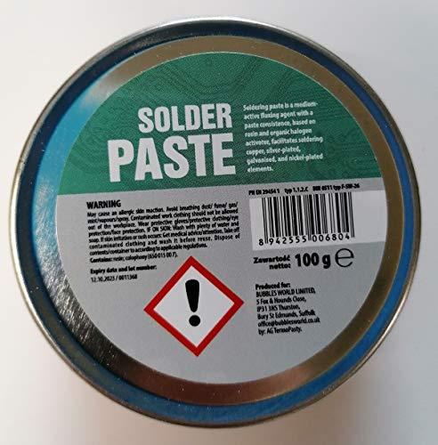 Nueva pasta de soldadura de flujo en la lata de 100 g para electrónica SMD plomería DIY etc.