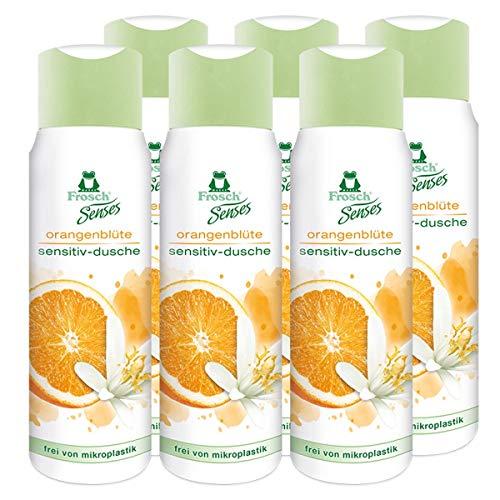 6x Frosch Senses Orangenblüte Sensitiv Dusche Duschgel 300ml
