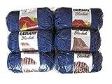 Bernat Blanket Yarn, 5.3oz, 6-Pack (Navy)