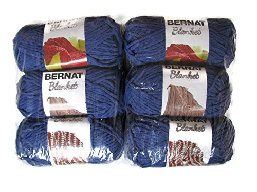 Bernat Blanket Yarn, 5.3oz, 6-Pack (Navy)