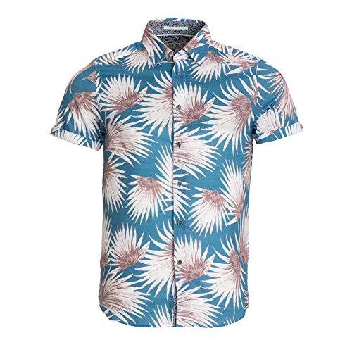 Ted Baker Men's Hedgeog Short Sleeve Shirt - Blue - 4/L - Blue