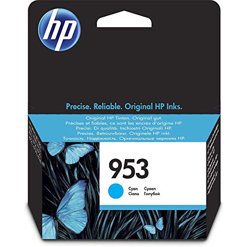 HP 953 Cyan Original Druckerpatrone für HP Officejet Pro 7720, 7730, 7740, 8210, 8710, 8715, 8720, 8725, 8730, 8740