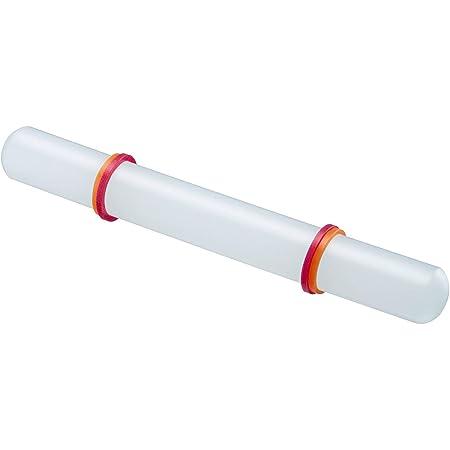 Westmark Rouleau, avec Anneau de distance, longueur : 22,2 cm, plastique/silicone, blanc/rouge/orange, 30462280