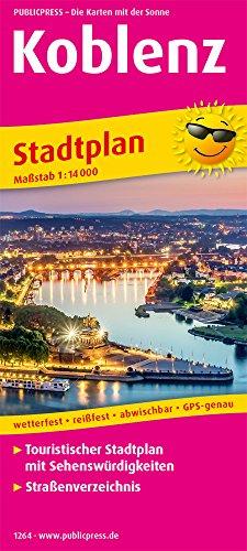 Koblenz: Touristischer Stadtplan mit Sehenswürdigkeiten und Straßenverzeichnis. 1:14000 (Stadtplan: SP)