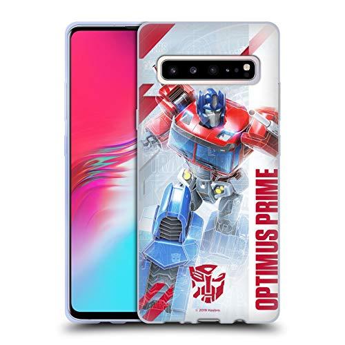 Head Case Designs Oficial Transformers Optimus Prime Arte Clave de Autobots Carcasa de Gel de Silicona Compatible con Samsung Galaxy S10 5G