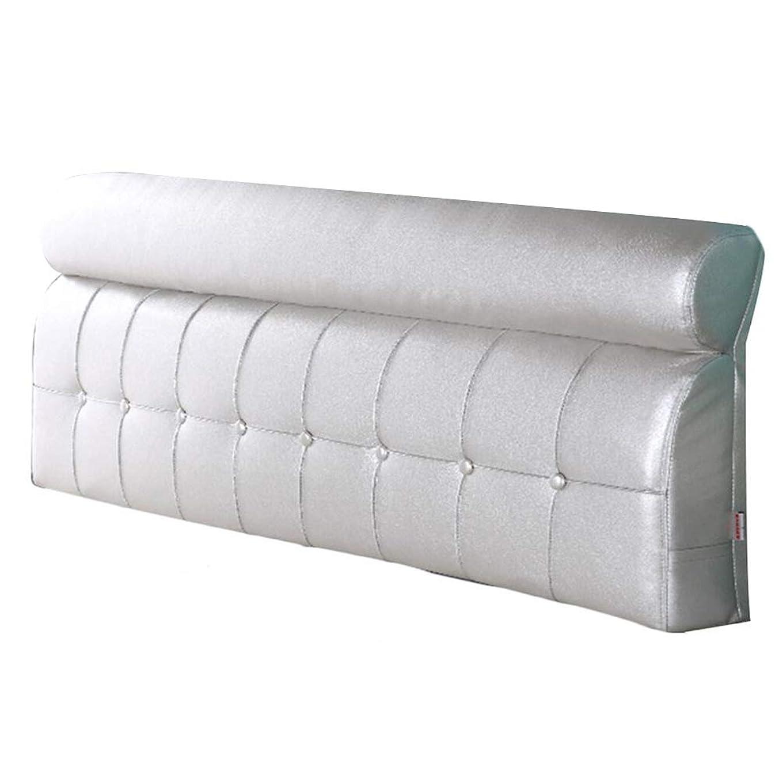 呼び起こす製品不名誉ZEMIN バック 床用靠垫 ウェッジクッション 柔らかい パッド サポート 寝室 オプション PU、 有/無 ヘッドボード、 4色、 5サイズ (Color : B-silver, Size : 120cm)