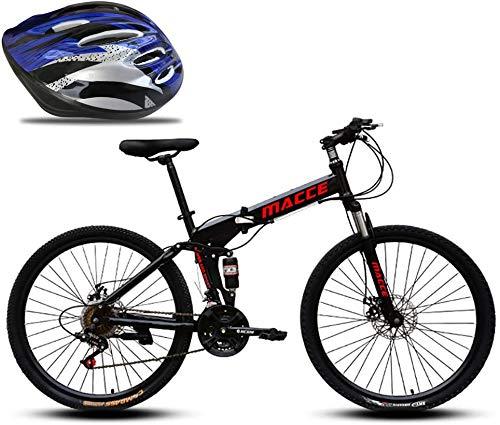 WJJH Bicicleta 24 Velocidad de la Bici de montaña Plegable, 24/26 en...