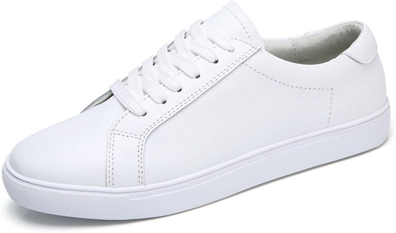 Qianliuk Frauen Echtes Leder Flache Flache Flache Schuhe Weiche Atmungsaktive Turnschuhe schwarz weiß Lace up Casual Schuhe Flats B07FHLZ3J8  Freizeit e44f91
