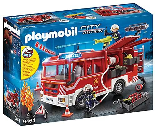 PLAYMOBIL City Action Camión de Bomberos con Luces y Sonido, a Partir de 4...