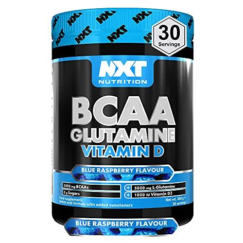 NXT Nutrition BCAA Glutamine Vitamin D 360g (Blue Raspberry)