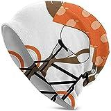 BaoBei-shop Ilustración de Ciclista Montando a Caballo en Bicicleta y vistiendo Trajes Naranjas Gorros Unisex Gorras Sombrero Sombrero Resistente