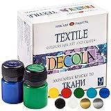 Decola Set Pintura Textil Acrilica | 9x20ml Colores Por Ropa Resistentes En Lavadora | Hechos En...