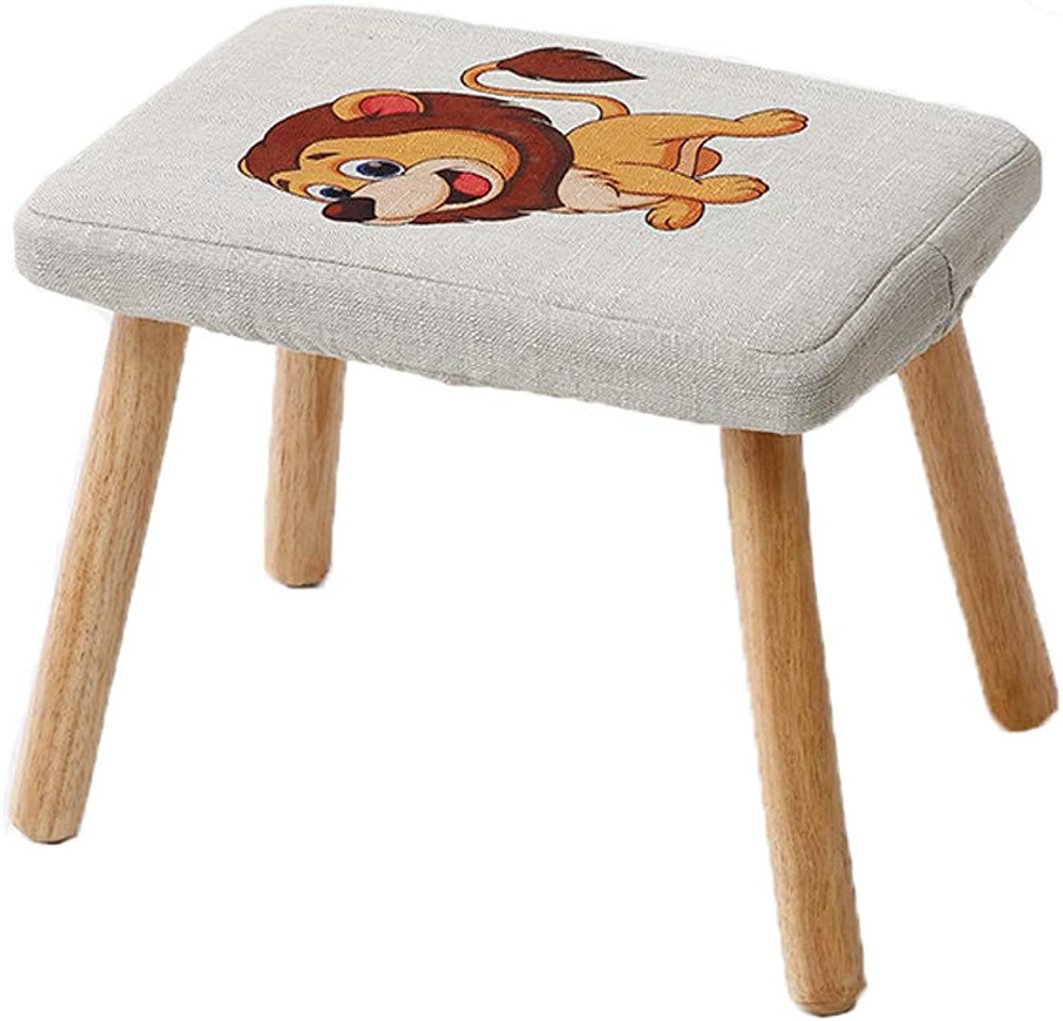 HLJ Simple Home Adult Change shoes Bench Fashion Sofa Stool Comfortable Solid Wood Cartoon Stool Creative Small Bench