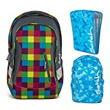 satch Sleek Beach Leach 3-teiliges Set Rucksack, Triple Flex & Regenhaube Blau