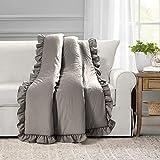 Lush Decor Reyna Throw Blanket, 60' x 50', Gray