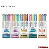 Zebra Mildliner – Juego completo de 25 colores (incluye nuevos juegos WKT7-N-5C y WKT7-5C-HC)