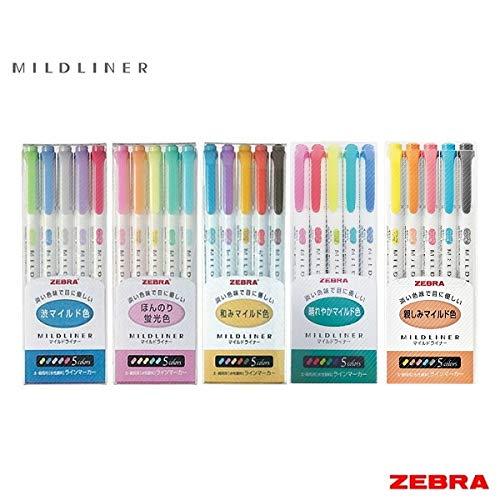 Zebra Mildliner – Juego completo 25 colores incluye