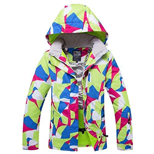 Minicocock Frauen Skijacke Snowboard-Jacke super warme windundurchlässige wasserdichte Outdoor-verdicken Thermal Sport Wear Weibliche Wintermantel (Color : Green, Size : M)