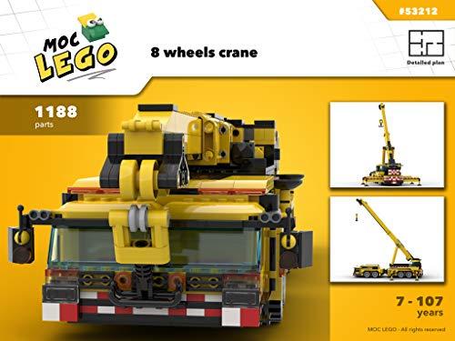 8 wheels crane (Instruction only): MOC LEGO (English Edition)