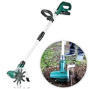 WAWZNN Motoazadas electricas de 20V, Cultivador eléctrico portátil, electrica motoazadas con batería Recargable para Jardines, huertos, invernaderos