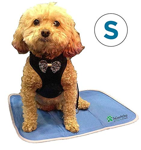 TheGreenPetShop Dog Cooling Mat – Gel Self Cooling Mat for Dogs – This Pet Cooling Gel Pad Keeps Dogs and Cats Cool in Warm Weather – Pressure Activated, No Water or Electricity Needed