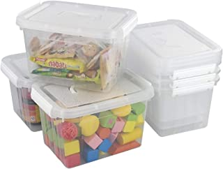 Kiddream 6-pack 6 Liter Plastic Storage Box With Handle, Clear